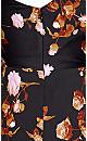 Plus Size Vivid Floral Dress - black