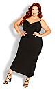 Shimmer Slip Dress - black