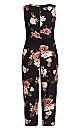 Rose Floral Jumpsuit - black