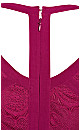 Panelled Bodice Maxi Dress - fuchsia