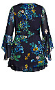 Midnight Pansy Dress - blue