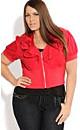 Women's Plus Size Cropped Ruffle Jacket | City Chic USA