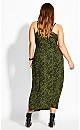 Green Animal Dress - green