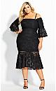 Laced Fox Dress - black