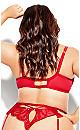 Delores Garter Belt - red