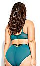Plus Size Abby Underwire Bra - teal