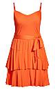 Mini Frill Dress - sunkist