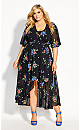Float Bouquet Maxi Dress - black