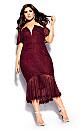 Lace Violet Dress - ruby