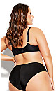 Plus Size Sexy Glam Balconette T-Shirt Bra - black