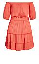 Fiesta Fringe Dress - tangerine