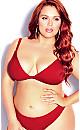 Daisy Bikini Top - red cherry