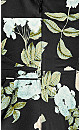 Plus Size Tender Floral Maxi Dress - black