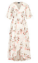 Plus Size Wrap Lotus Maxi Dress - ivory