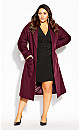 Plus Size Belted Tux Dress - black
