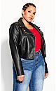 Plus Size Lust Biker Jacket - black