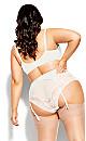 Plus Size Alina Garter Belt - linen