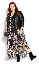 Amore Floral Maxi Dress - black