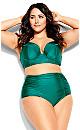 Plus Size Azores Bikini Brief - emerald