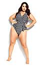 Palm Beach 1 Piece - black stripe