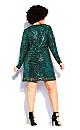 Bright Lights Dress - emerald