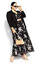 Mini Bouquet Maxi Dress - black