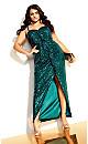 Seductress Maxi Dress - emerald