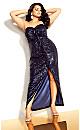 Seductress Maxi Dress - navy