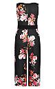 Plus Size Floral Crush Jumpsuit - black
