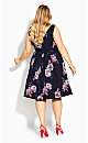 True Love Floral Dress - navy