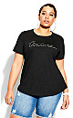 Plus Size Clean Lines Tee - black