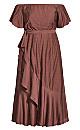 Plus Size Inspiration Maxi Dress - mink