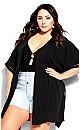 Plus Size Sun Lover Kaftan - black