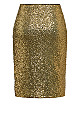Plus Size Bronzed Skirt - bronze