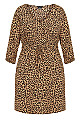Plus Size Cheetah Tunic - cheetah