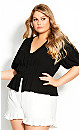Plus Size Sweet Sleeve Top - black