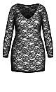 Sheer Lace Chemise - black