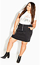 Vintage Feel Skirt - black