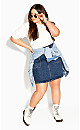 Vintage Feel Skirt - mid denim
