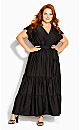 Flutter Away Maxi Dress - black