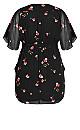 Wrap Petal Dress - black