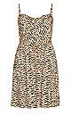 Classic Animal Dress - caramel animal