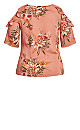 Sweet Floral Top - guava