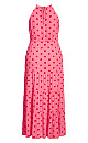 Party Spot Maxi Dress - red spot
