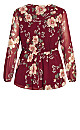 Fresco Floral Top - red