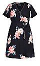 True Love Floral Dress - black