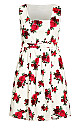 Vintage Rose Dress - ivory