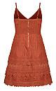 Nouveau Dress - paprika