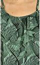 Palm Print Tie Back Top