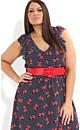 Chiffon Spot Bow Dress with Belt